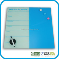 Custom good quality glass magnetic memo board / office glass drawing boards
