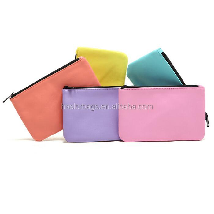 couleurs cosmétiques zipper pouch pour la promotion
