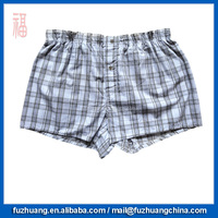 Cheap Grid Loose Underwear Old Men Boxer Short 044
