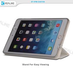 New coming folio leather case for ipad mini 2 3,TPU back cover stand case for ipad mini 2 3