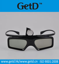 Black cinema 3d glasses active glasses
