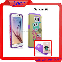 Fancy custom print super hot combo case cover for Samsung galaxy S6 Personal design and logo is ok