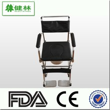 Classic type wheelchair with commode, toilet chair wheelchair