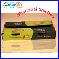 Fold Cardboard box for fresh fruits without glue /Shanghai Shichao