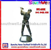 Golf Action Figure Trophy