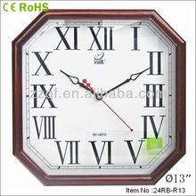 Roman number polygon shape european wall clock