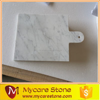 Beautiful customized carrara white marble cheese plate