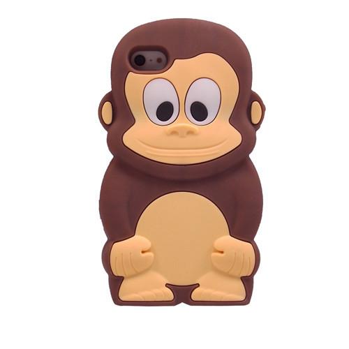 החדש 22 מודל 3D בעלי חיים קריקטורה קוף/ברווז/ג ' ירף/טרטל/פיל/טדי/פו/דוב סיליקון רך case כיסוי עבור Iphone 5 5s