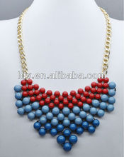 2012 handmade accessories 3 layers paved beads necklaces jewlery accessories LDN1676