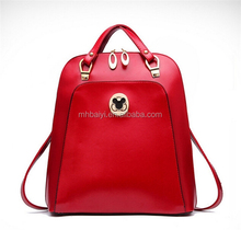 fashion promotional custom women leather outdoor bag backpack