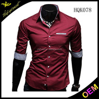 New design men casual shirts with different colors and fashion design