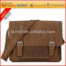 Famous brand name nubuck leather shoulder sling bag crossbody bag