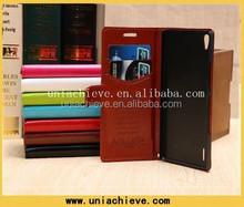 Luxury Fashion PU Leather Stand Flip Cover Case Skin For HuaWei P7