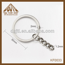 Fashion high quality wholesale keyring with chain