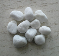 China natural white round pebble stone for sale