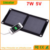foldable portable solar panel charger 7W 5V with hook for mobile phones