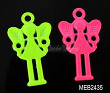 20*14mm alloy fluorescent painting lovely girl pendant for jewelry making