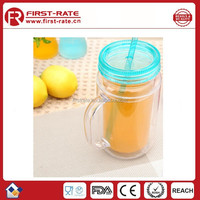 Fruit juice plastic water bottle with straw