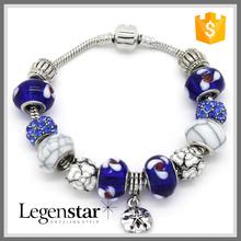 2015 Fashion Bulk Wholesale Jewelry Alloy Bead Murano Sand Dollar Bracelet PB0063