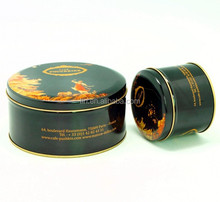 Food grade round tin can for cookies sweets cakes packaging
