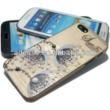 Hard plastic beaded cellular phone cover accessory for iphone 4 5 6