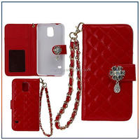 Luxury Leather Wallet Case For Samsung Galaxy S5 i9600