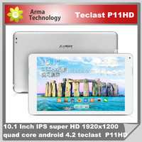 RK3188 cortex-a9 tablet pc Touch Capacitive Screen 1920*1200 pixels 10.1 inch IPS Retina Teclast p11 HD