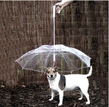 Cute Fashion Soft Lovely Comfortable Transparent Dog Puppy Pet Umbrella Decoration For Outdoor Rain Travel Hiking
