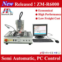 2015 Small volume than zhuomao ZM R6200, automatic cheap bga rework station ZM-R6000 low temp and tin lead solder