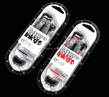 Retail small qty Skull INK'D 2 stereo hi-fi candy earphone with mic for MP3 MP4 IPOD