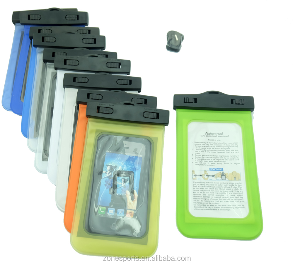 hot sale 2015 pvc custom for samsung waterproof bag for mobile phone with ipx8 certificate