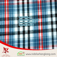 Cheap China textile tartan cotton fabric big checks
