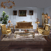 European style living room furniture-classic Italian antique living room furniture