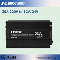 Smart design perfect car battery charger review ac 220v dc 12/24V 150Ah battery charger with four-phase charging mode KEX-30A
