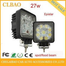 auto tuning led lights 12V 4.3inch 27W LED work light offroad round shape car part driving light