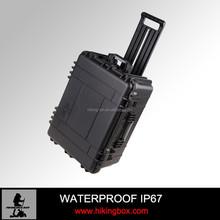 Ningbo HIKING Plastic trollry case hard abs waterproof instrument case IP67