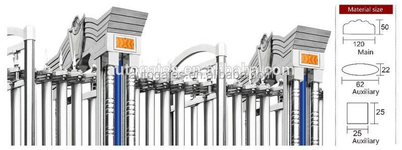 Fashionable Electric Driveway Security Gates With Motor