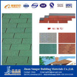Fiberglass Asphalt Roofing Shingles Coloured with Top Quality