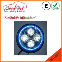 Qeedon patent product chrome car led headlight 24w 2400lm for jeep winch