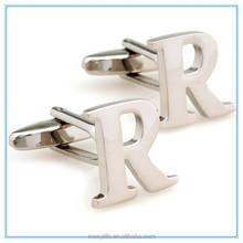 MECY LIFE 2015 Hot sale simple design highg quality fashion cheap custom cufflink with initials