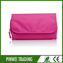 flat foldable hanging toiletry makeup bag, customised cosmetic bag hs code
