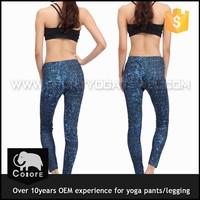 Wholesale and custom women yoga leggings printed fitness