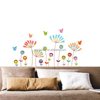 120x60cm Colorful Cartoon Flower Butterfly Vinyl Decal Art Mural Removable Large Wall Sticker Home Bedroom Decor Brand New