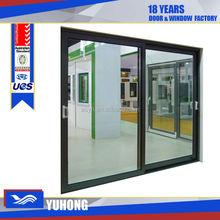 pvc hallow glass sliding window