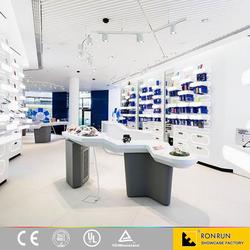 Custom made mobile phone display showcase furniture for phone accessories