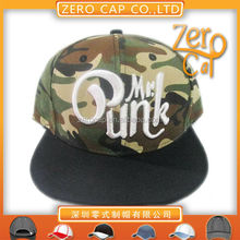 high quality snapback hat 3d emboridery camo Fitted cap.