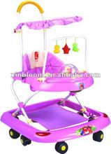 pink baby walker with canopy