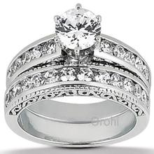 white gold jewellery, real diamond engagement rings, 18k white gold -Y00348
