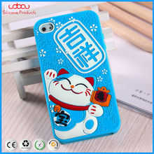iphone3-5g case protect cover silicone covering with good luck words