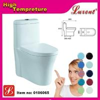 Economic promotional ceramic one piece pink siphonic toilets